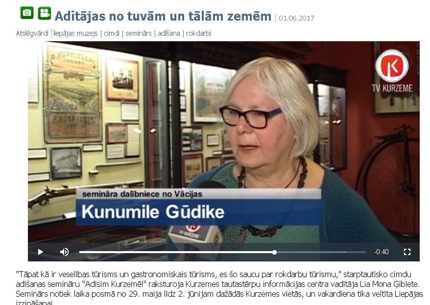 Kurzeme TV  / Rokdarbu Tourismus / Handarbeitstourismus