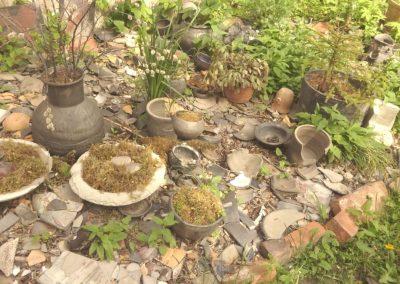 Gartengestaltung mit Töpferscherben