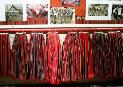 Kihnu Röcke im Museum