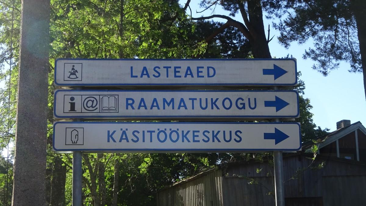 Wegweiser in Töstamaa
