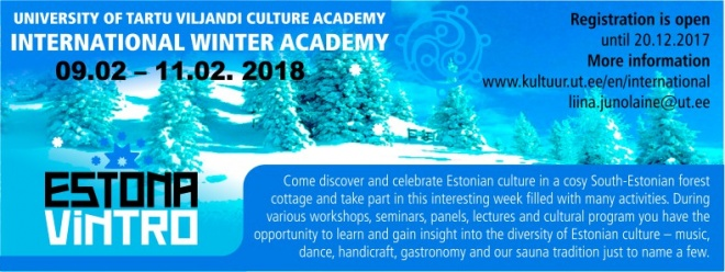 WinterAcademy in Estonia – 09.02.2018 – 11.02.2018