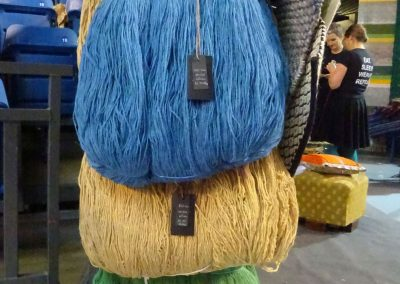 Wolle zum Weben