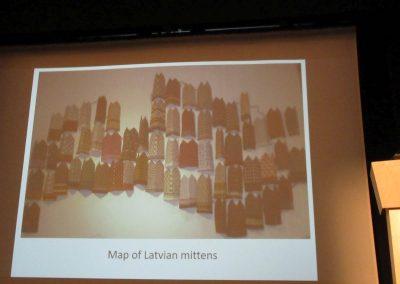 Die lettische Handschuh-Karte