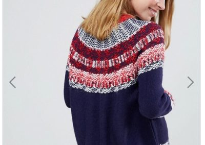 Asos Tall jumper in vintage fairisle