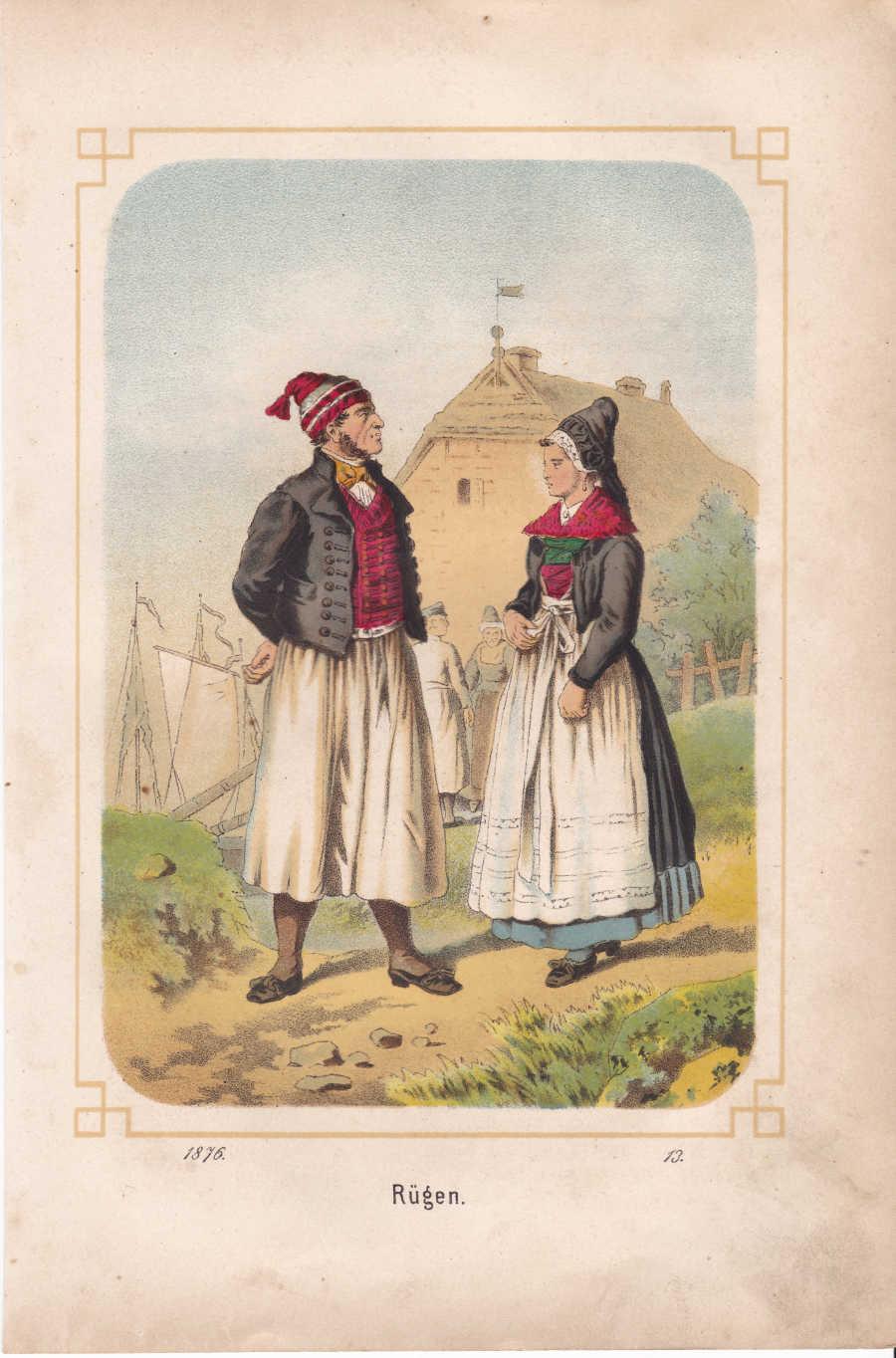 Kretschmer - Trachten der Völker - Rügen