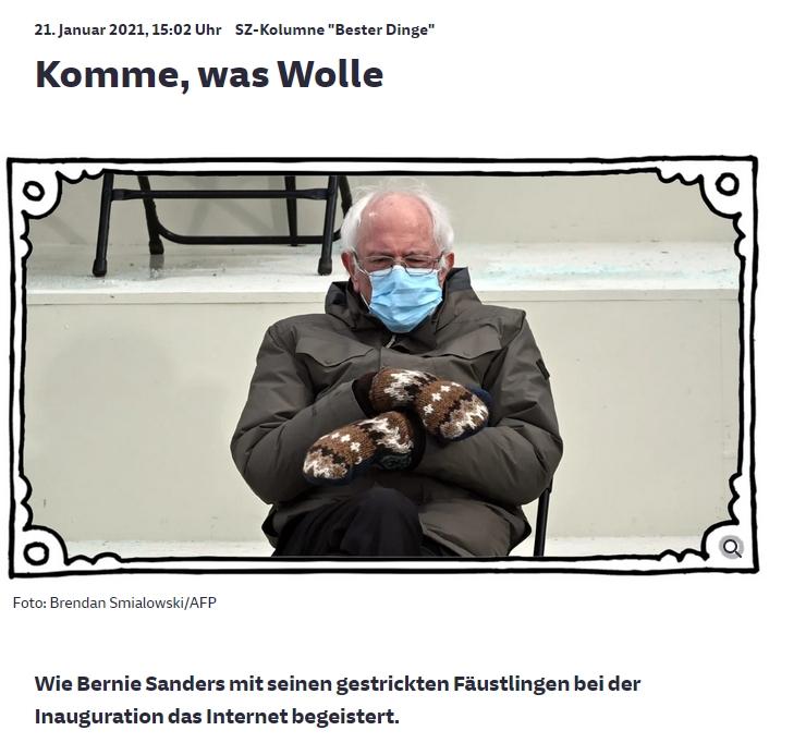 Bernie komme was wolle