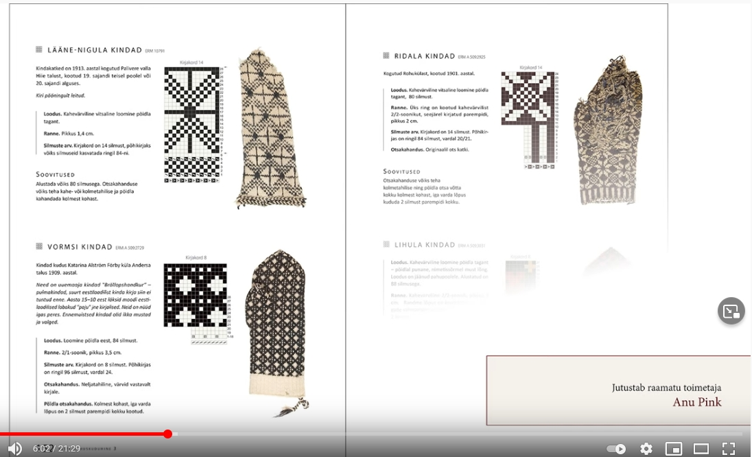 Screenshot Handschuhbuch