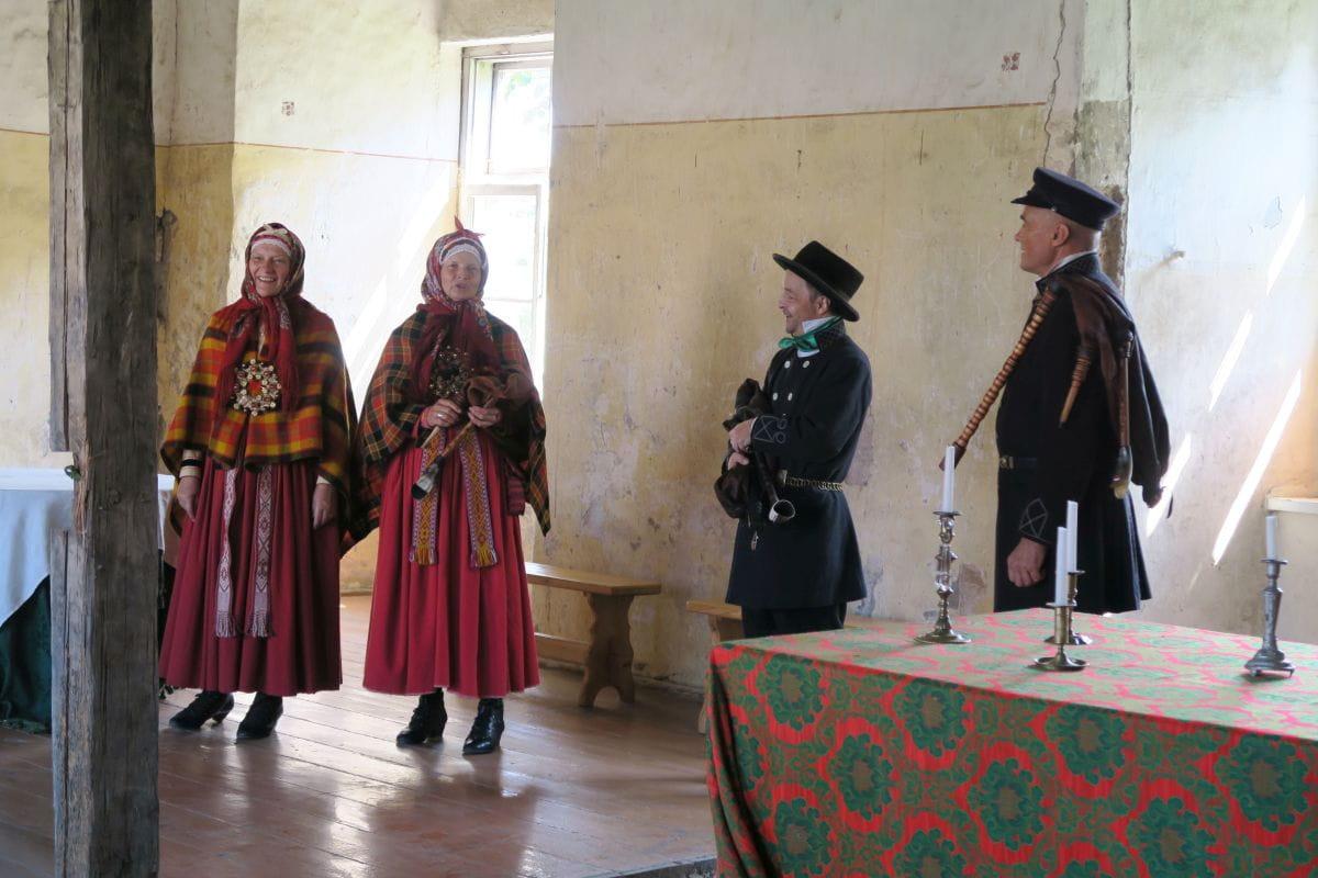 In der Burg von Alsunga